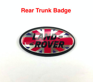 Union Flag Rear Trunk Boot Emblem For Range Rover Sport Evoque Velar Discovery