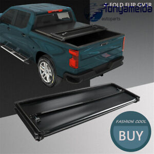 Fits For Toyota Tacoma 2005 2015 Bed Premium Solid Hard 4 Fold Tonneau Cover 6ft