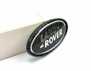 Carbon Fiber Effected Rear Trunk Boot Emblem For Range Rover Sport Evoque Velar