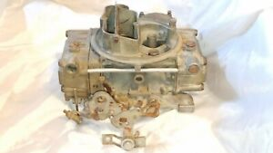 Holley 4 Barrel 1850 2 3054 Rebuildable Or Parts Carburetor Plates Move Free