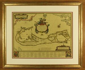 Antique Map Of Bermuda By Willem Blaeu