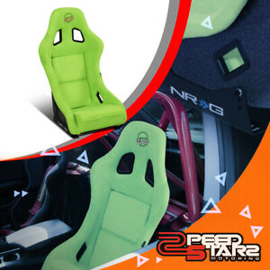 Nrg Innovations Frp 303ng prisma Medium Alcantara Racing Bucket Seat side Mount