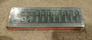 Snap On 12pc 3 8 Drive 6 point Metric Flank Drive Shallow Impact Swivel Socket