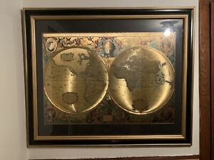 Nova Totivs Terrarvm Orbis Geographica Ac Hydrographica Gold Foiled World Map