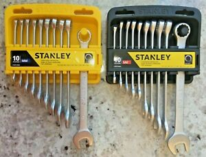 Stanley Combo 10pc Metric 10pc Sae Combination Wrench Sets 20 Wrenches Total