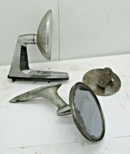3 Vintage Car Side Mirrors