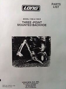 Long 1198 1199 b Three Point Hitch Backhoe Implement Attach Tractor Parts Manual
