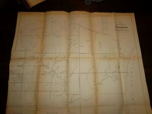 1856 Wisconsin Territory Of Minnesota Map 21 X 19 Inches Public Survey