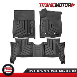 Front Rear Tpe Floor Mats Liners Foot Pad For Toyota Tacoma Trd Pro 2016 2021
