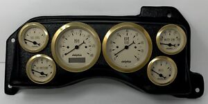 1987 1988 1989 1990 1991 1992 1993 For Mustang 6 Gauge Dash Panel Insert Gold