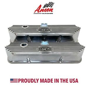 Ford Fe 427 Tall Valve Covers Polished Powered By 427 Cubic Inches Ansen Usa