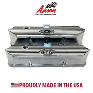 Ansen New Ford Fe 427 Tall Valve Covers Polished Powered By 427 Cubic Inches