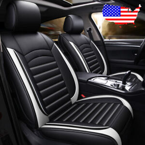 Us Auto Car Suv Microfiber Leather Seat Covers For Mazda 3 6 Cx 7 Cx 5 Black