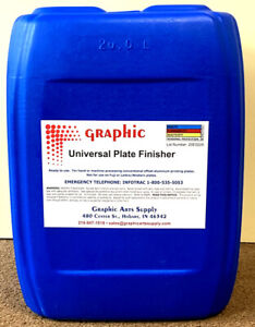 Universal Plate Finisher For All Offset Aluminum Printing Plates 5 Gal