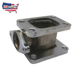 For T3 To T4 Turbo Manifold Conversion Adapter With 38mm Wastegate Flange Outlet