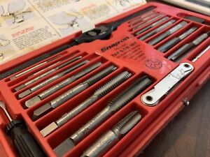 Snap On Tools Usa Tap And Die Set Kit Thread Repair Td2425 41pc Hex Wrench