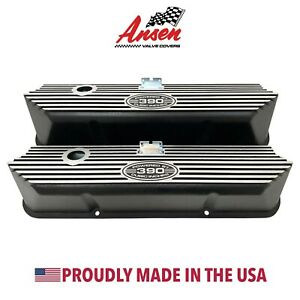 Ford Fe 390 Tall Valve Covers Black Powered By 390 Cubic Inches Ansen Usa