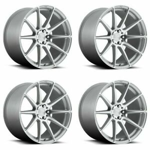 Set 4 19x8 5 Niche M146 Essen Gloss Silver Machined 5x112 Wheels 42mm W Lugs