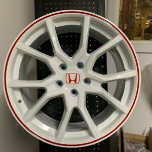 18 Fk8 Type R Style Fits Honda Accord Sport Civic Si Exl New White Wheels