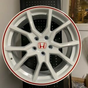 18 Fk8 Type R Style Sport White Wheels Rims Fits Acura Tsx Tl Rsx 5x114