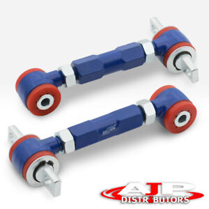 Blue Adjustable Rear Camber Arms Kit Poly Bushing For 1988 2000 Civic Ef Eg Ek