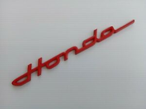 Honda Red 3d Emblem Logo Badge Decal S600 S800 Chaly Dax Ct70 Low Ship Costs
