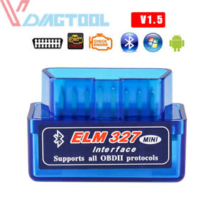 Super Mini Elm327 Bluetooth V1 5 Obd2 Car Diagnostic Tool Scanner Android Torque