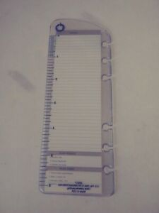 Franklin Covey Compact Pouch Page Finder Insert Planner