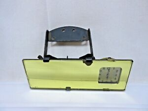 Original 1930 s Chevrolet Ford Rear view Mirror New Haven Clock Working Great