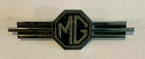 Vintage Mg Car Emblem 4 5 8 X 1 1 2 Inches