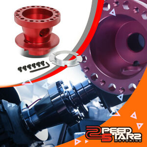 Red Anodized Steering Wheel Hub Adapter For 69 05 Chevy Camaro Corvette Jimmy