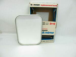Vintage 7x10 Truck Van White Painted Side View Mirror Head Yankee 1b222