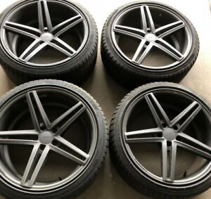 Vossen Matte Graphite Wheels front 20x9 rear 20x10 5