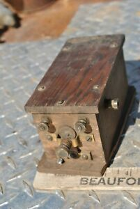 Dayton Dick Company Hit Miss Gas Engine High Tension Wooden Buzz Spark Coil