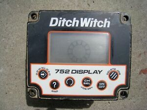 Subsite Ditch Witch Brand Remote Display Model 752 Compatible With 750 Also