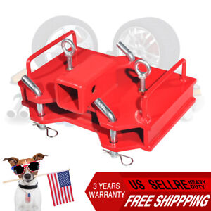 2 inch Trailer Hitch Receiver For Dual Pallet Forks Forklift Towing Attachment
