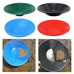 15inch Gold Panning Basin Nugget Sluicing Pan With Dual Riffles Dredging