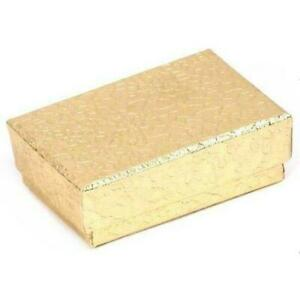 Gold Cotton Filled Jewelry Display Gift Box 1 7 8 X 1 1 4