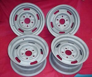 1969 Camaro Nova Ss Yj Code Rally Wheels Rims 14x7 Matched Dates Set Of 4