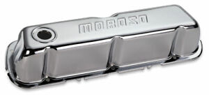 Moroso Tall Valve Covers Chrome Steel Sbf P n 68202