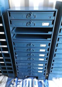 Durham Mfg Twelve Sliding Drawer Parts Cabinet With Contents