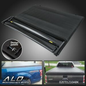 For 2015 2017 Ford F 150 Truck 5 5ft Short Bed Four fold Tonneau Cover Black