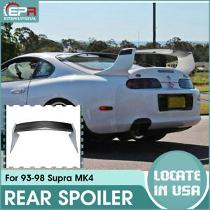 Carbon Fiber Frp Rear Trunk Spoiler Wing For Toyota Mk4 Supra Tr Style Kits