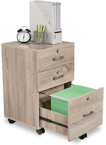 3 drawer File Cabinet W rolling Wheel Office Cabinet Printer Stand