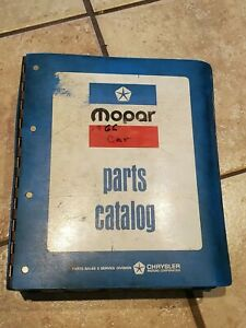 1966 Mopar Chrysler Plymouth Dodge Dealers Parts Catalog In A Later Binder nice