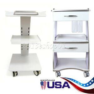 Dental Metal Built in Socket Tool Cart Mobile Cart Trolley Cart