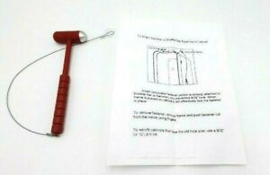Fire Extinguisher Cabinet Hammer Glass Breaker Red Emergency With Instructions