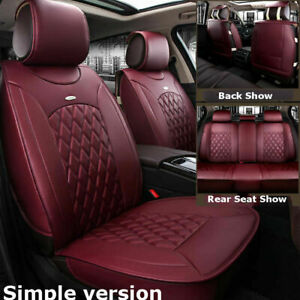 Us Car Suv Pu Leather Seat Cover Front rear For Nissan Altima Sentra Rogue Kicks