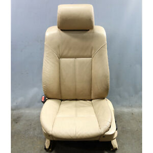 1999 2003 Bmw E39 5 series E38 Front Basic Seat Pair Sand Beige Leather Oem
