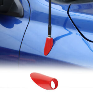 Red Car Antenna Base Moulding Decor Cover For Dodge Ram 1500 2010 17 Accessories